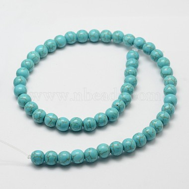 Synthetic Howlite Bead Strand(X-G-P228-04-8mm)-2