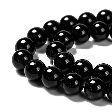 Natural Obsidian Beads Strands(X-G-K123-06-8mm)-3