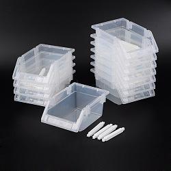 Perles en plastique affichent plateaux, clair, 17x12x8 cm, 12 pièces / kit(C049Y)