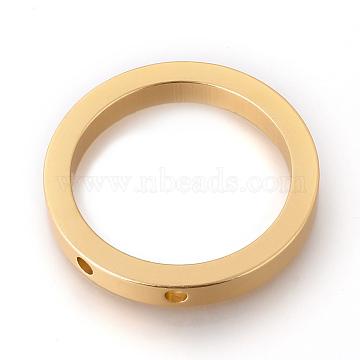 Eco-Friendly Aluminium Pendants, Laser Cut Pendants, Ring, Gold, 50.5x7mm, Hole: 4mm(ALUM-Q001-28A)