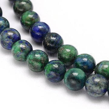 10mm Round Chrysocolla and Lapis Lazuli Beads