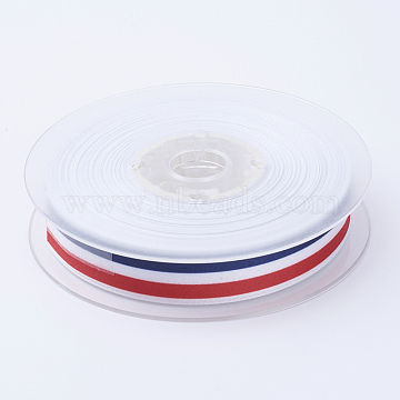 Grosgrain Polyester Ribbons for Gift Packings, Colorful, 1 inches(25mm)(SRIB-P010-25mm-01)