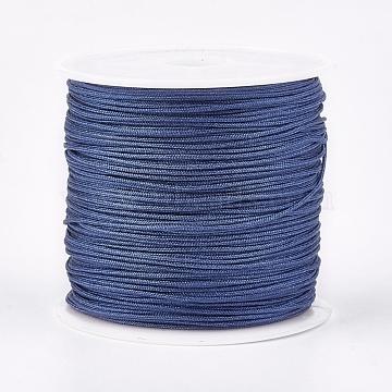Nylon Thread, Nylon Jewelry Cord for Custom Woven Jewelry Making, Cornflower Blue, 0.8mm, about 49.21 yards(45m)/roll(NWIR-K022-0.8mm-09)