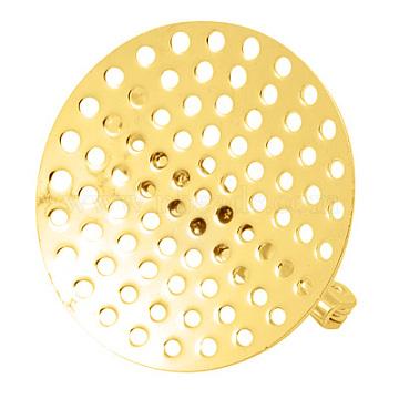 Golden Brass Brooch Base Settings