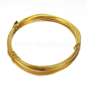 Aluminum Craft Wire, for DIY Arts and Craft Projects, Gold, 1.5mm, 15 Gauge, 5m/roll(16.4 Feet/roll)(AW-D009-1.5mm-5m-14)