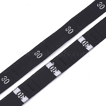 Clothing Size Labels(30), Garment Accessories, Size Tags, Black, 12.5mm, about 10000pcs/bag(OCOR-S120C-12)