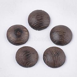 cabochons de bois, non teint, plat rond, coconutbrown, 14.5x4.5 mm(WOOD-S053-29B)
