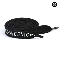 Polyester Drawstring Cord, For Garment Accessories, Black, 1300x12x1.5mm(AJEW-WH0043-04)