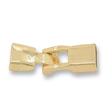 Nickel Free & Lead Free Golden Jewelry Clasps Alloy Snap Lock Clasps, Long-Lasting Plated, 35x12x7mm, Hole: 4x10mm(PALLOY-J218-033G)