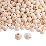 10mm Moccasin Round Wood Beads(WOOD-PH0008-19)