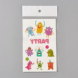 Removable Fake Temporary Tattoos, Water Proof, Cartoon  Paper Stickers, Huggles, Colorful, 120~121.5x75mm(AJEW-WH0061-B03)