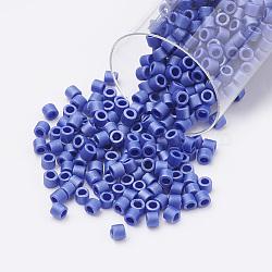 Miyuki® délicat perles, Perles de rocaille japonais, 10/0, (dbm0361) lustre cobalt opaque mat, 1.6x1.8mm, trou: 0.5 mm; sur 1080 pcs / bouteille(SEED-S015-DBM-0361)
