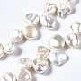 Natural Cultured Freshwater Pearl Beads Strands, Nuggets, 10~21x10~16x4~10mm, Hole: 0.5mm, about 45~46pcs/strand, 14.76 inches~15.35 inches(37.5~39cm)