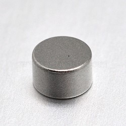 Column Magnet Beads, No Hole, Platinum, 5x3mm(X-FIND-I002-03)