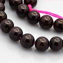 """Grenat naturel chapelets de perles rondes, 8mm, trou: 1mm; environ 50 pcs/chapelet, 15.7""""(G-N0120-46-8mm)"""