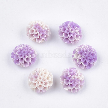 Synthetic Coral Beads, Dyed, Lotus Flower, Medium Purple, 15x16x9.5mm, Hole: 1.4mm(X-CORA-S027-37C-08)