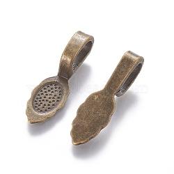 Tapis à coller en alliage de style tibétain, sans plomb et sans cadmium, bronze antique, longueur d'environ 26 mm ,  largeur de 8 mm, épaisseur de 7mm, Trou: 5x8mm(X-K0P9R071)