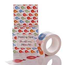 Rubans adhésifs décoratifs pour bricolage, fleur, colorées, 20mm(DIY-G003-Z-07)