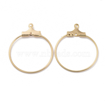 Real Gold Plated Brass Earring Hoop