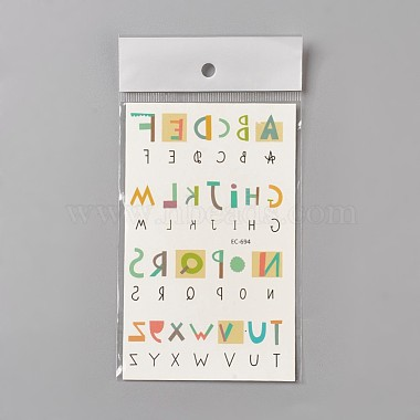 Colorful Alphabet Paper Tattoo Stickers