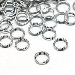 Jewelry Findings Original Color Stainless Steel Split Rings, 6x1.2mm; about 4.8mm inner diameter(X-STAS-E010-6x1mm-2)