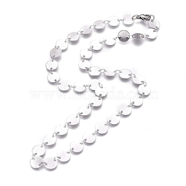 304 Stainless Steel Link Chains Necklaces(NJEW-I238-14A-P)-1