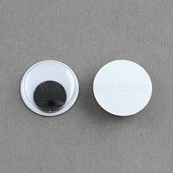 Bancal cabochons en plastique de l'oeil, noir, 7x3mm(X-KY-S002-7mm)