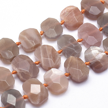 17mm Rectangle Moonstone Beads
