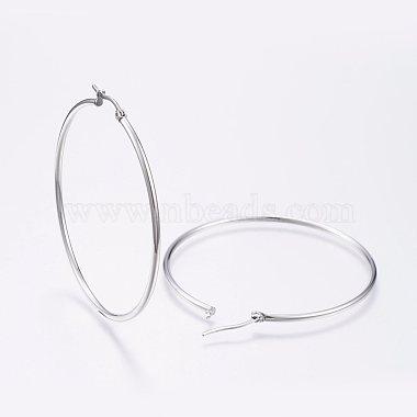 304 Stainless Steel Big Hoop Earrings(X-EJEW-F105-03P)-2
