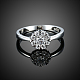 Trendy Flat Round 925 Sterling Silver Cubic Zirconia Finger Rings(RJEW-BB16658-6)-4