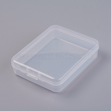 Plastic Bead Containers, Rectangle, Clear, 11.95x9.3x2.85cm; Inner Diameter: 11.05x8.9cm(X-CON-L013-04)