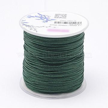 Nylon Threads, Dark Slate Gray, 1mm, about 109.3yards/roll(100m/roll)(NWIR-N004-03E-1mm)