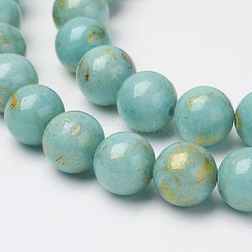 4mm Turquoise Round Mashan Jade Beads