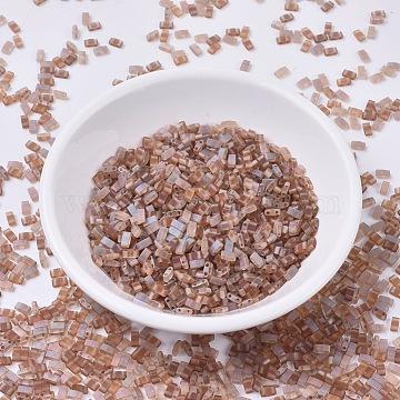 MIYUKI Half TILA Beads, Japanese Seed Beads, 2 Hole, (HTL4578) Crystal Celsian Matte, 5x2.3x1.9mm, Hole: 0.8mm, about 250pcs/10g(X-SEED-J020-HTL4578)