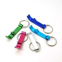 Openners de bouteilles en alliage d'aluminium, avec des anneaux de fer, couleur mixte, 74mm(AJEW-G001-13)