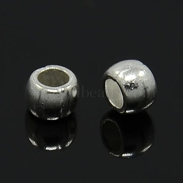 Tibetan Style Spacer Beads, Lead Free and Cadmium Free, Drum, Silver Color Plated, about 6mm long, 7mm thick, hole: 3.5mm(TIBEB-LFH10389Y-S-LF)