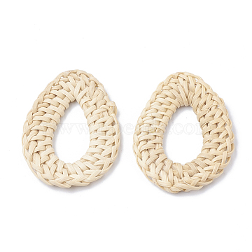 43mm AntiqueWhite Drop Others Linking Rings