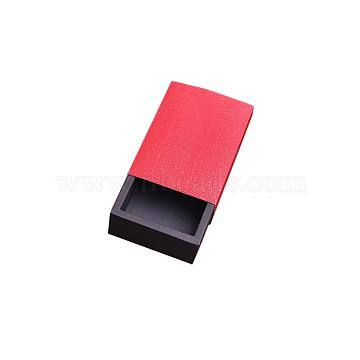 Kraft Paper Folding Box, Corrugated E-flute Box, Don't Fold, Rectangle, Mixed Color, 11x8cm; Finished Product: 9x6x4cm(CON-WH0010-02B-C)