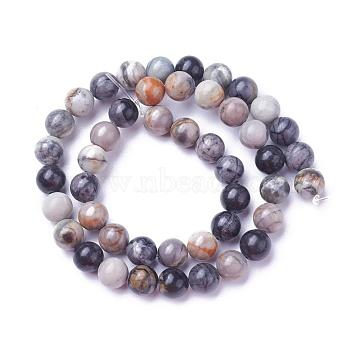8mm Round Picasso Stone Beads