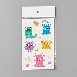 Faux tatouages temporaires amovibles, imperméable, autocollants papier de dessin animé, huggles, colorées, 120~121.5x75mm(AJEW-WH0061-B02)