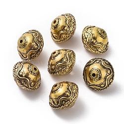 CCB perles en plastique, rondelle, Or antique, 18x15mm, Trou: 2mm(CCB-K007-022AG)
