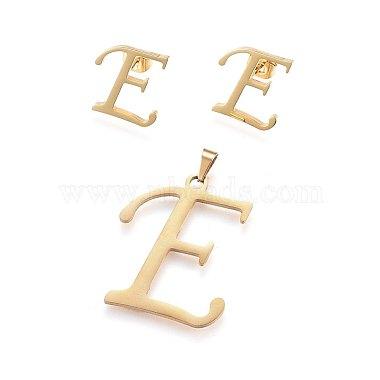Alphabet 304 Stainless Steel Stud Earrings & Pendants