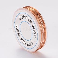 fil de bijoux de cuivre, chocolat, Jauge 20, 0.8 mm; 3 m / rouleau(X-CWIR-CW0.8mm-14)