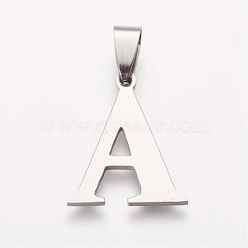 Stainless Steel Color Alphabet Stainless Steel Pendants