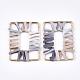 Handmade Raffia Woven Linking Rings/Pendants(WOVE-S120-05A)-1