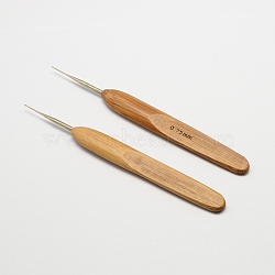Bambou poignée fer aiguilles crochet de crochet, Pérou, broche: 0.75 mm; 133~136x13x7 mm(X-TOOL-R034-0.75mm)