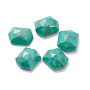 8mm Hexagon Natural Turquoise Cabochons(G-I287-02A)