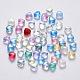 Transparent Spray Painted Glass Beads(X-GLAA-R211-02)-1