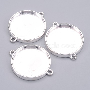 Silver Flat Round Alloy Links