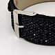 Snake Print PU Glittering Leather Watch Band Bracelets(X-BJEW-J031A-04)-3